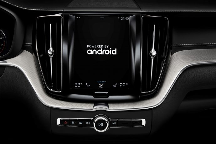 volvo cars with google android