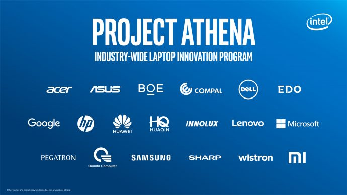 intel project athena innovation partners