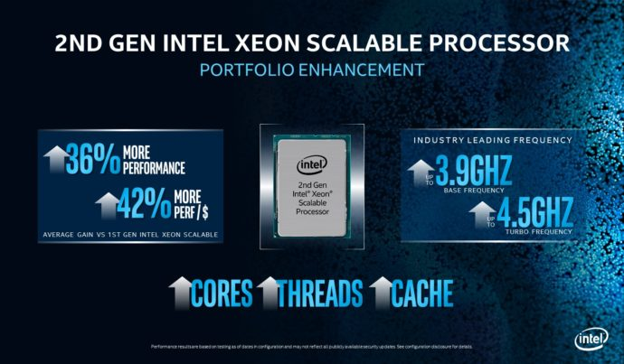 2nd Gen Xeon Scalable Portfolio Enhancements